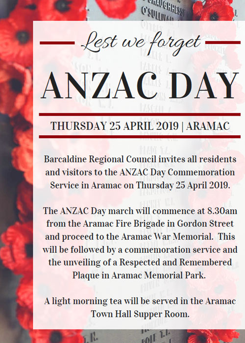 Anzac Day in Aramac