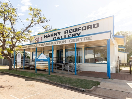 Harry Redford Centre in Aramac with the BOQ and Aramac Library