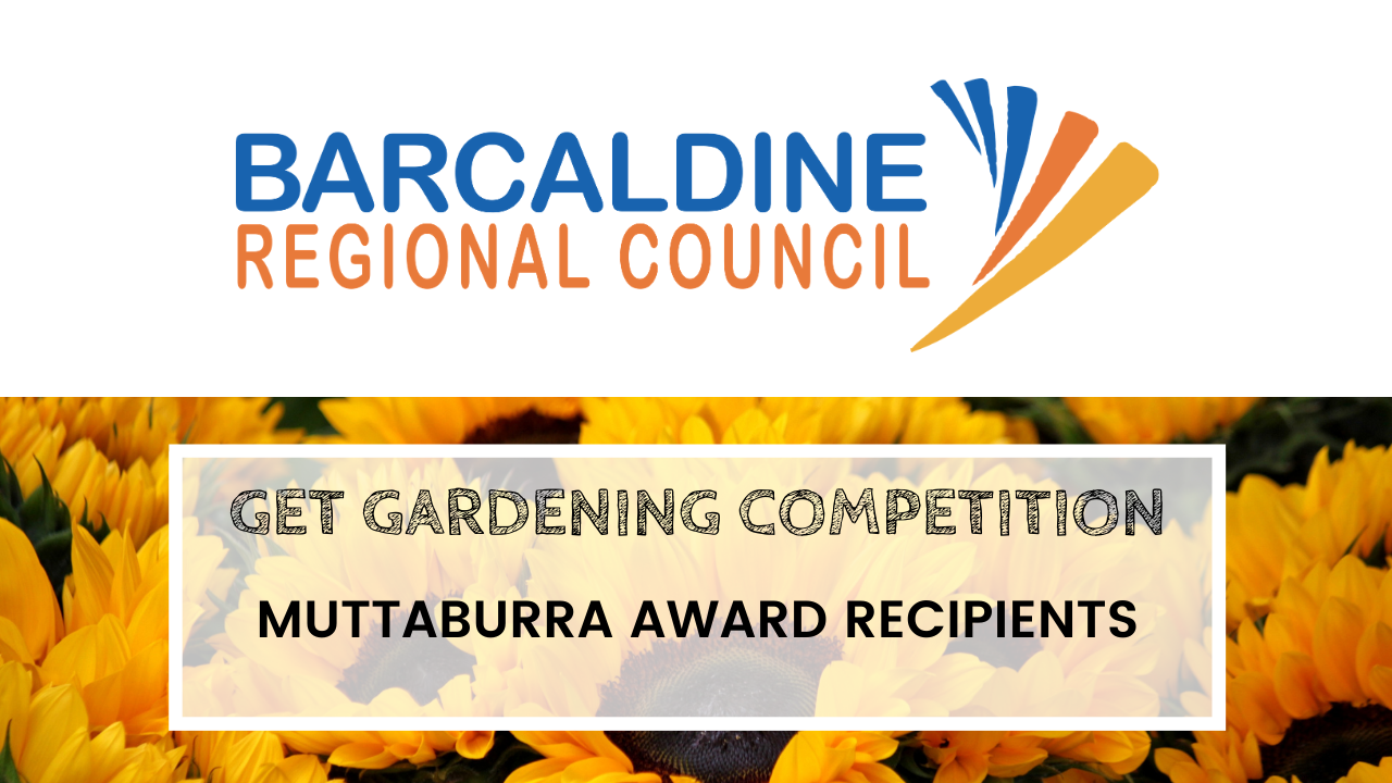 2020 Get Gardening Competition - Muttaburra award recipients tiles